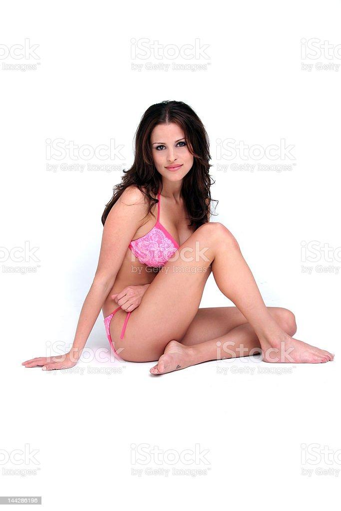 Hermosa modelo de bikini foto de stock libre de derechos