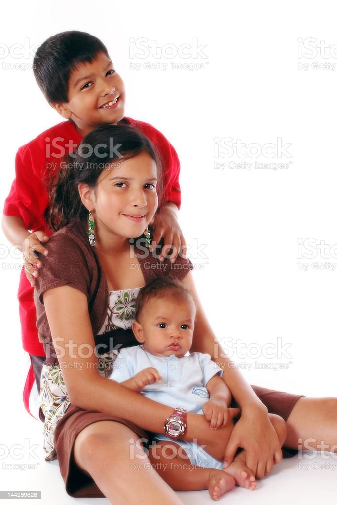 Beautiful Biracial Siblings royalty-free stock photo
