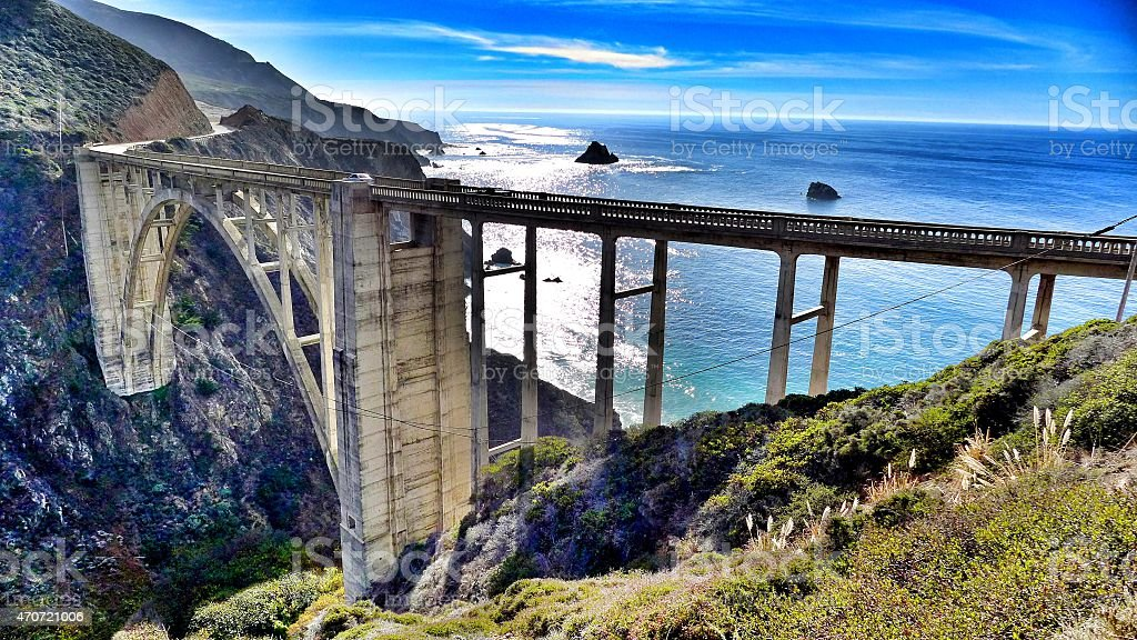 Beautiful Bixby Bridge stock photo