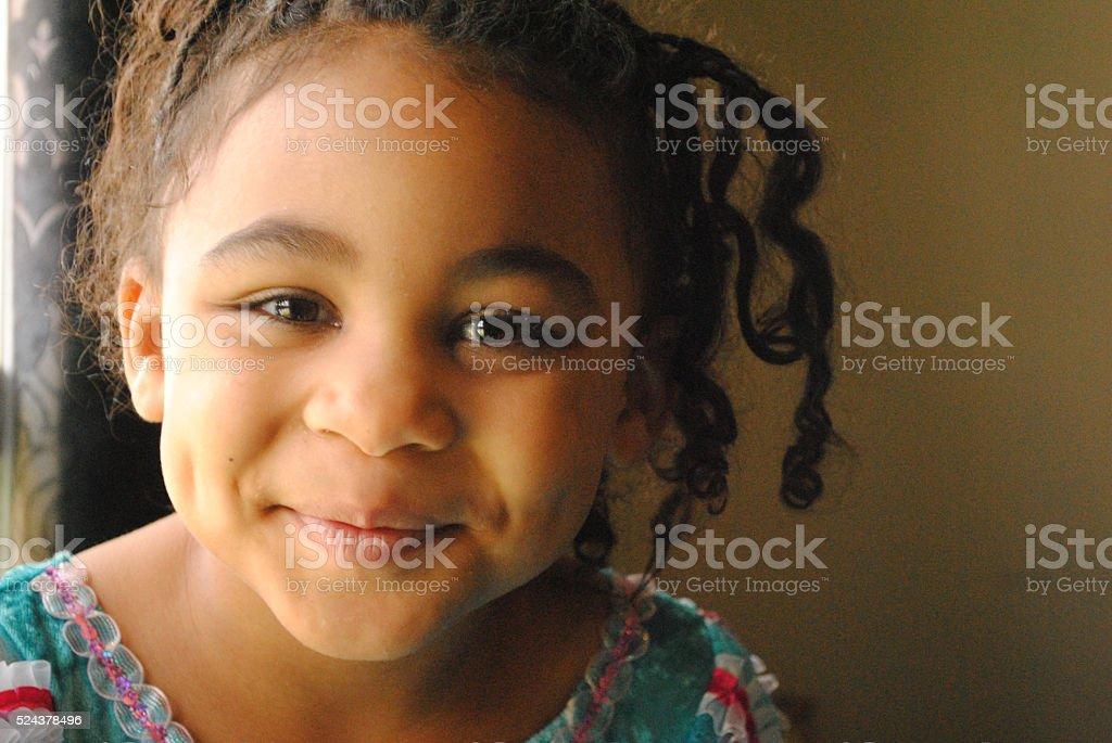Beautiful Black Girl stock photo
