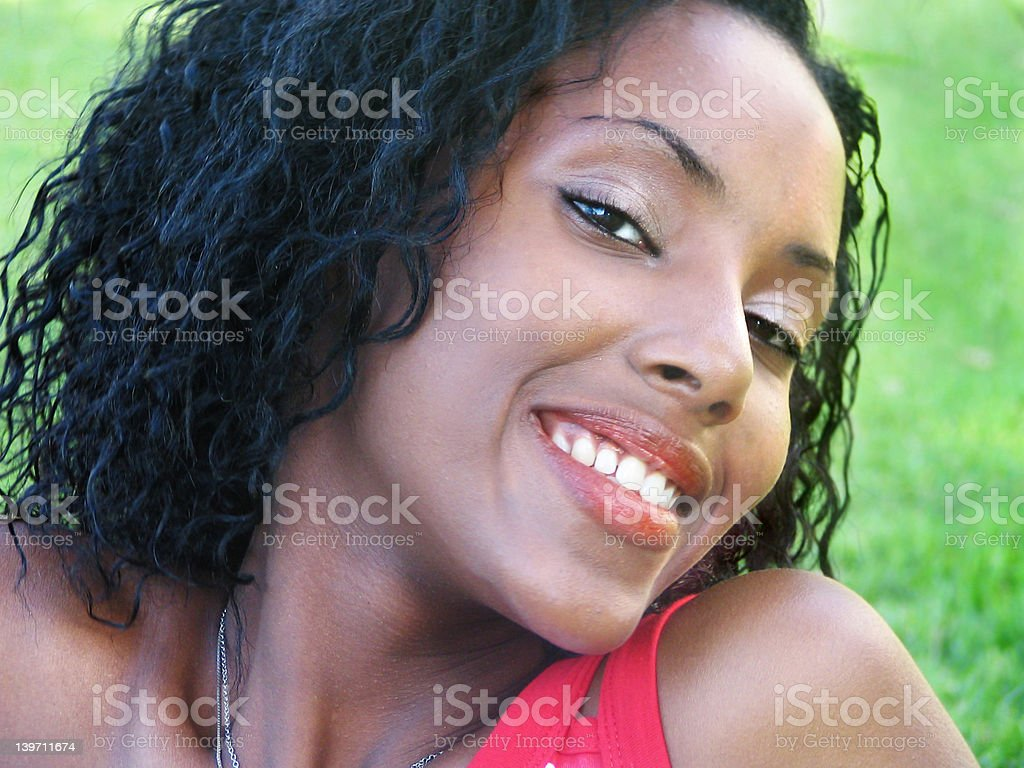 Beautiful black woman royalty-free stock photo