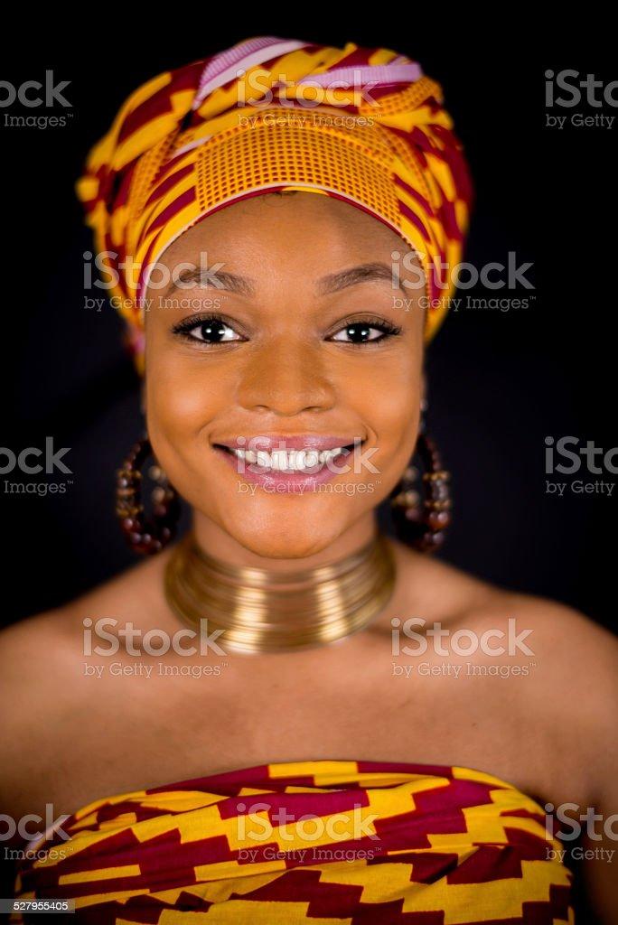 Beautiful black woman stock photo