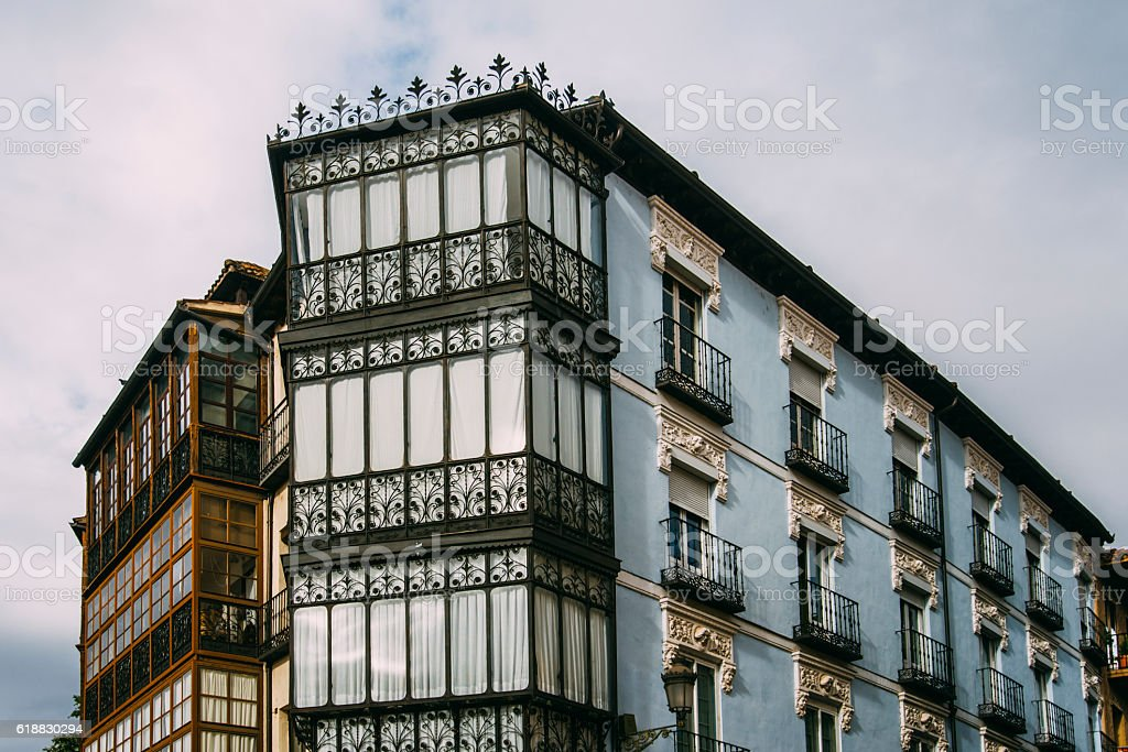Beautiful block of apartments stock photo