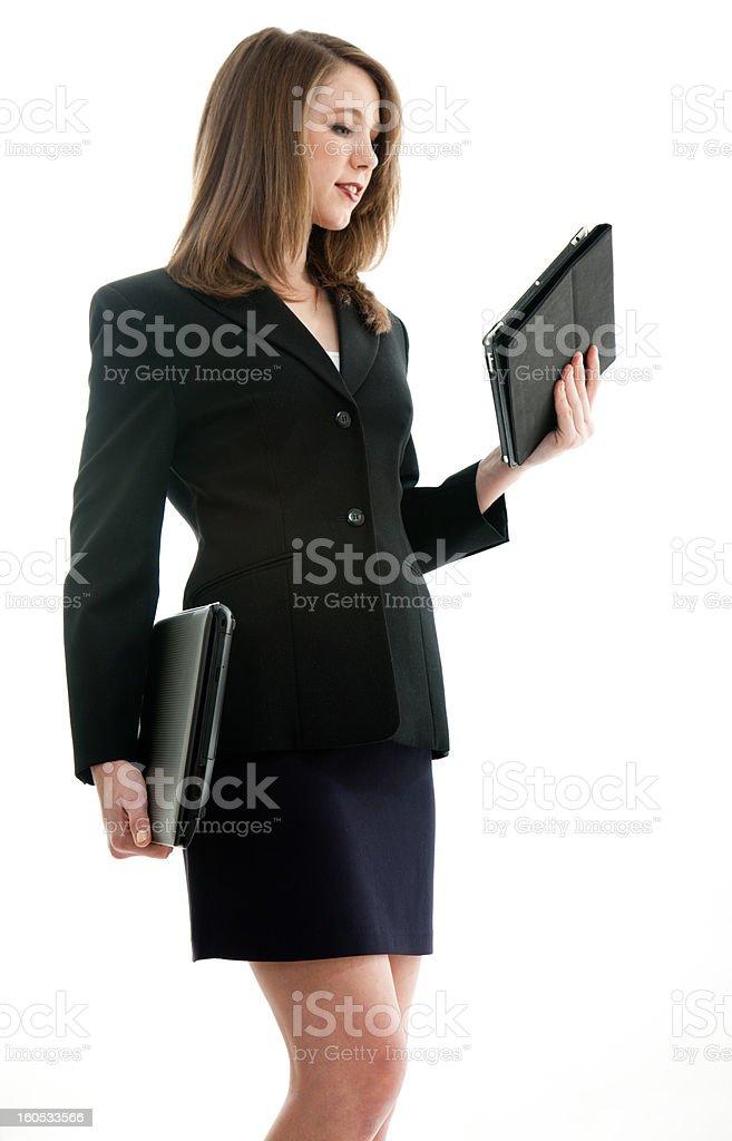 Beautiful blond caucasian business woman royalty-free stock photo