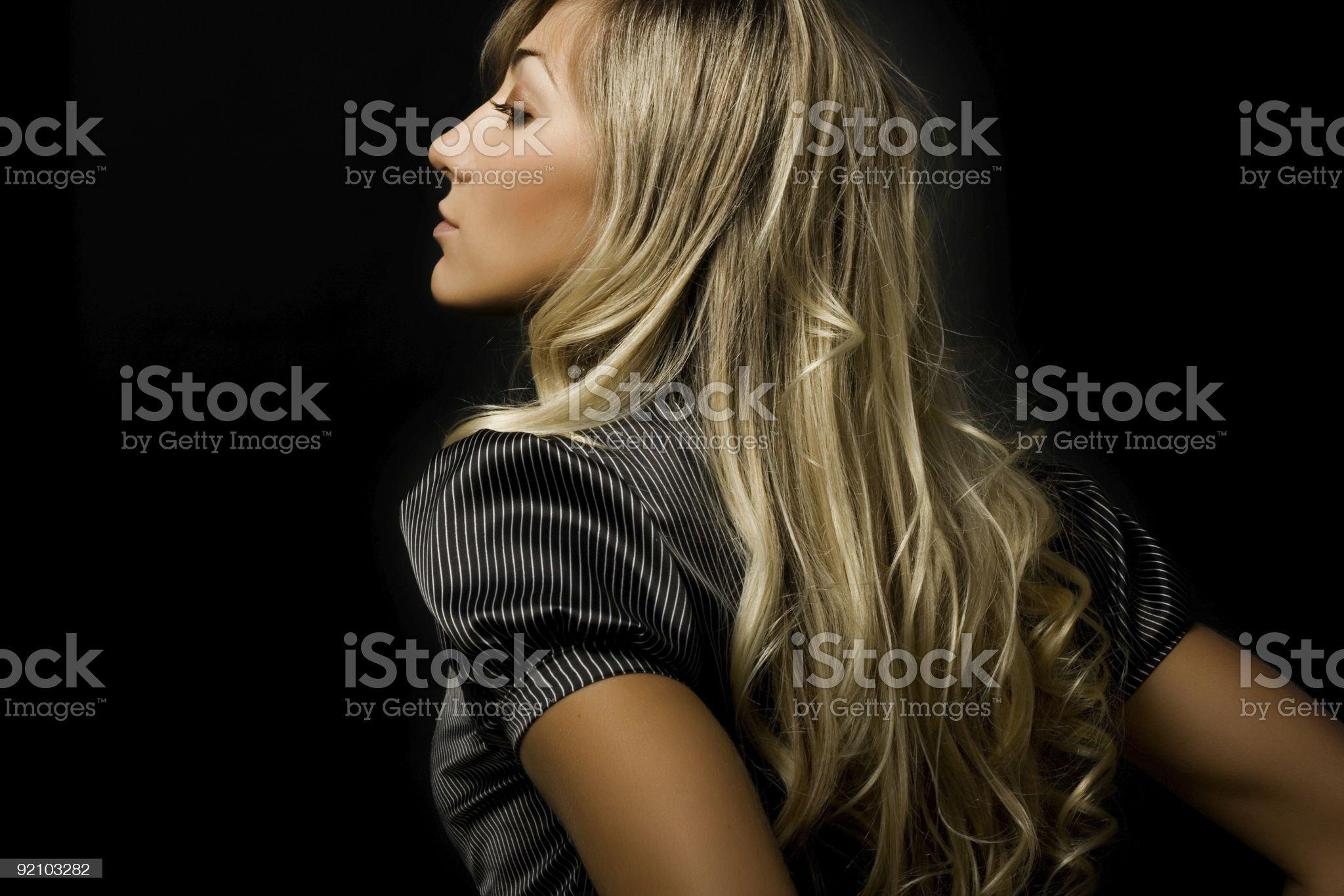 Beautiful blond girl royalty-free stock photo