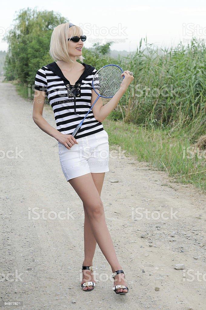 beautiful blond stock photo