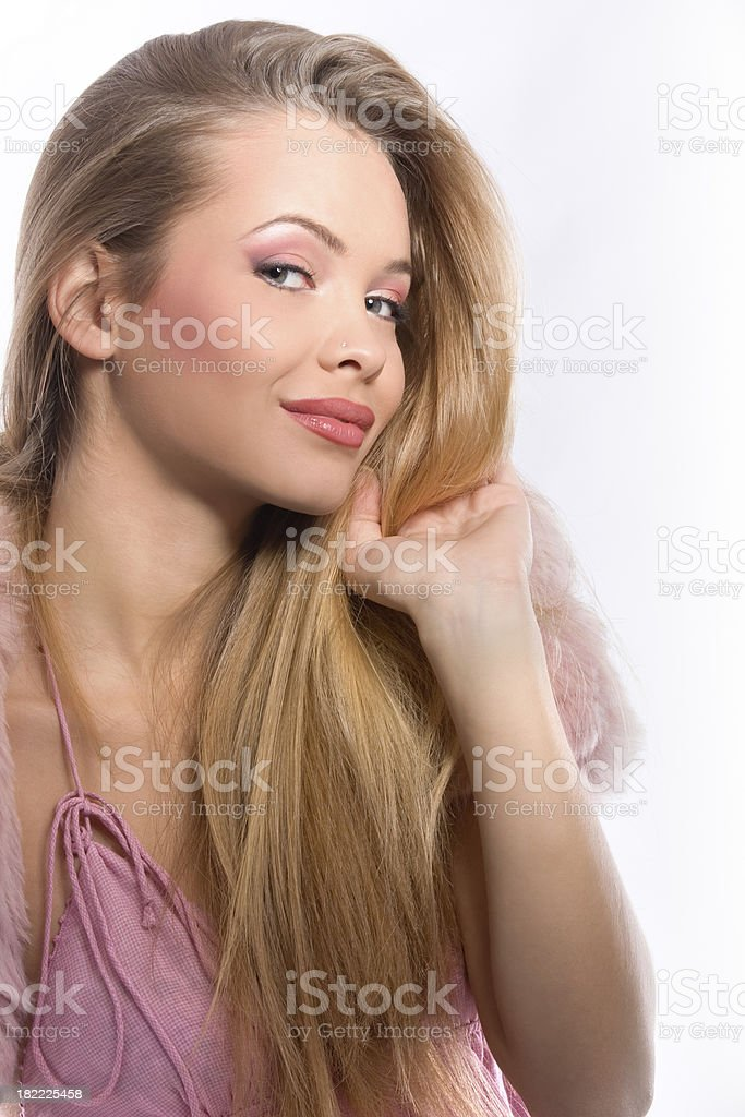 Beautiful blond with blue eyes royalty-free stock photo