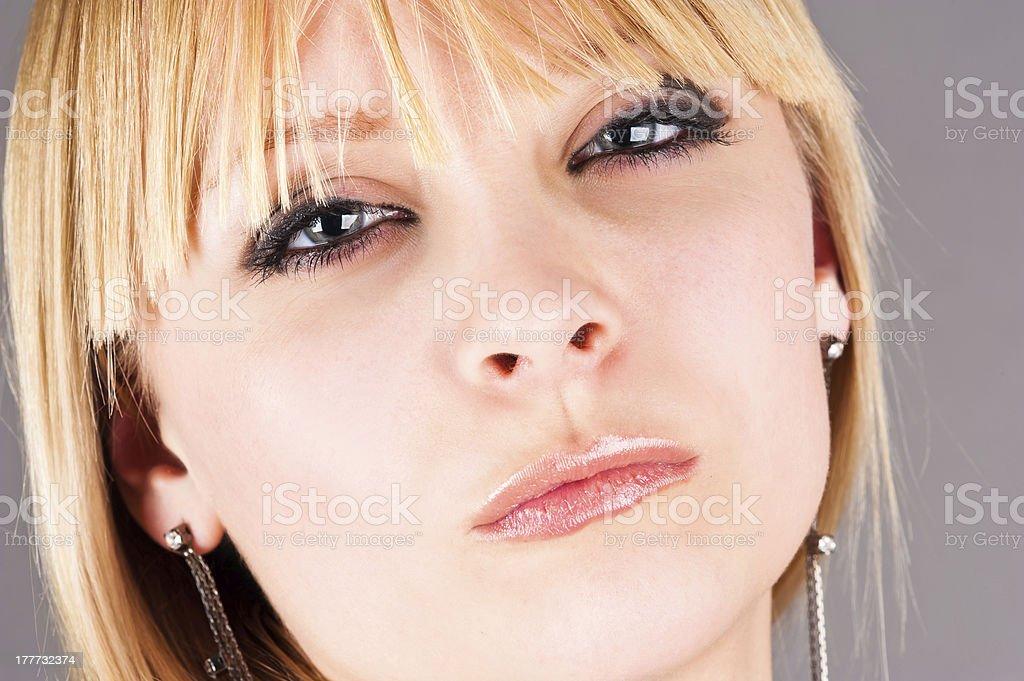 beautiful blond woman royalty-free stock photo