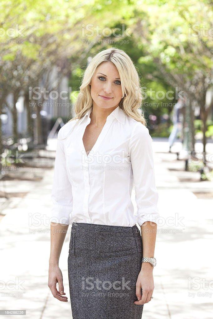 beautiful blonde business woman stock photo