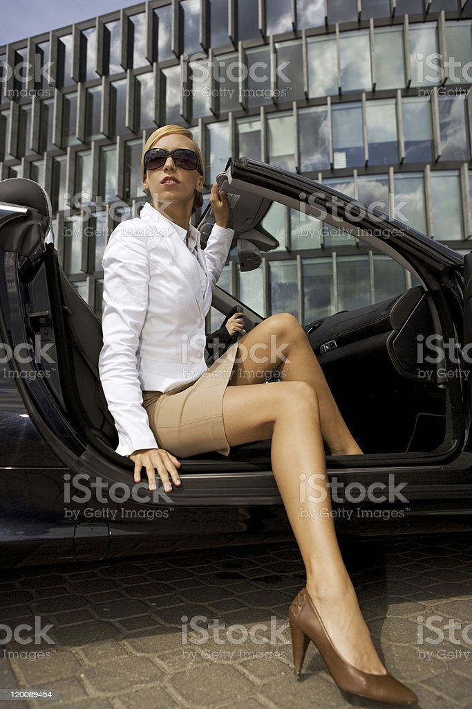 beautiful blonde businesswoman royalty-free stock photo