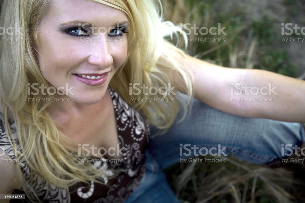 Beautiful Blonde Country Girl royalty-free stock photo