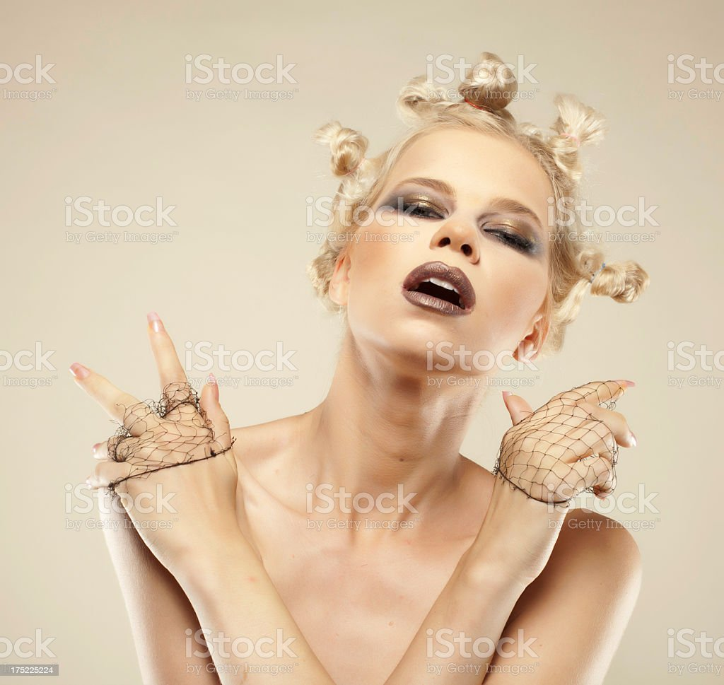 Beautiful blonde girl royalty-free stock photo