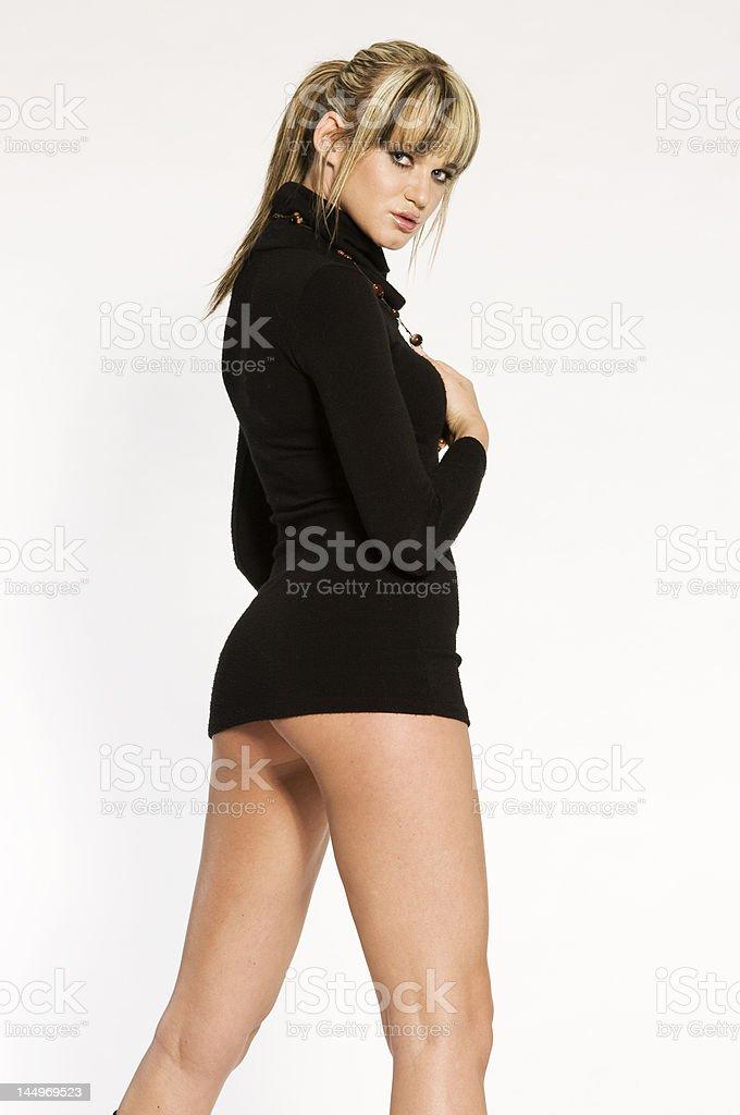 beautiful blonde model royalty-free stock photo