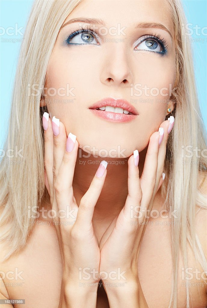 beautiful blonde royalty-free stock photo
