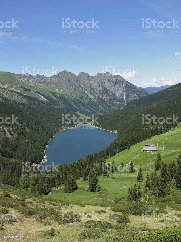 Beautiful blue Arnensee royalty-free stock photo