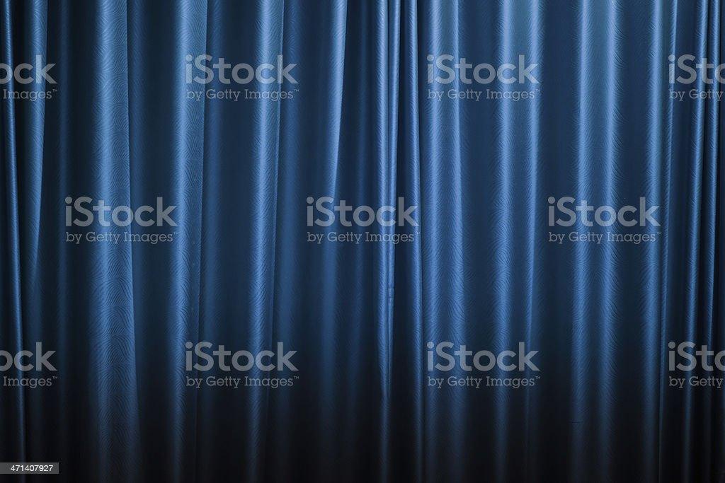 Beautiful blue curtain background. stock photo