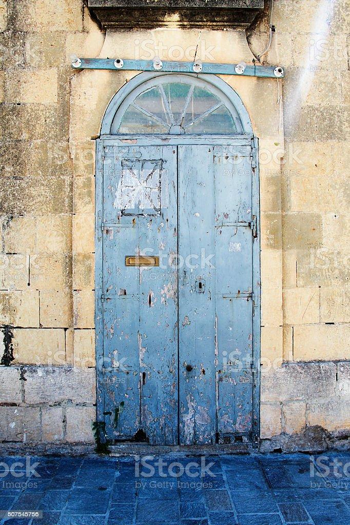 Beautiful blue door stock photo