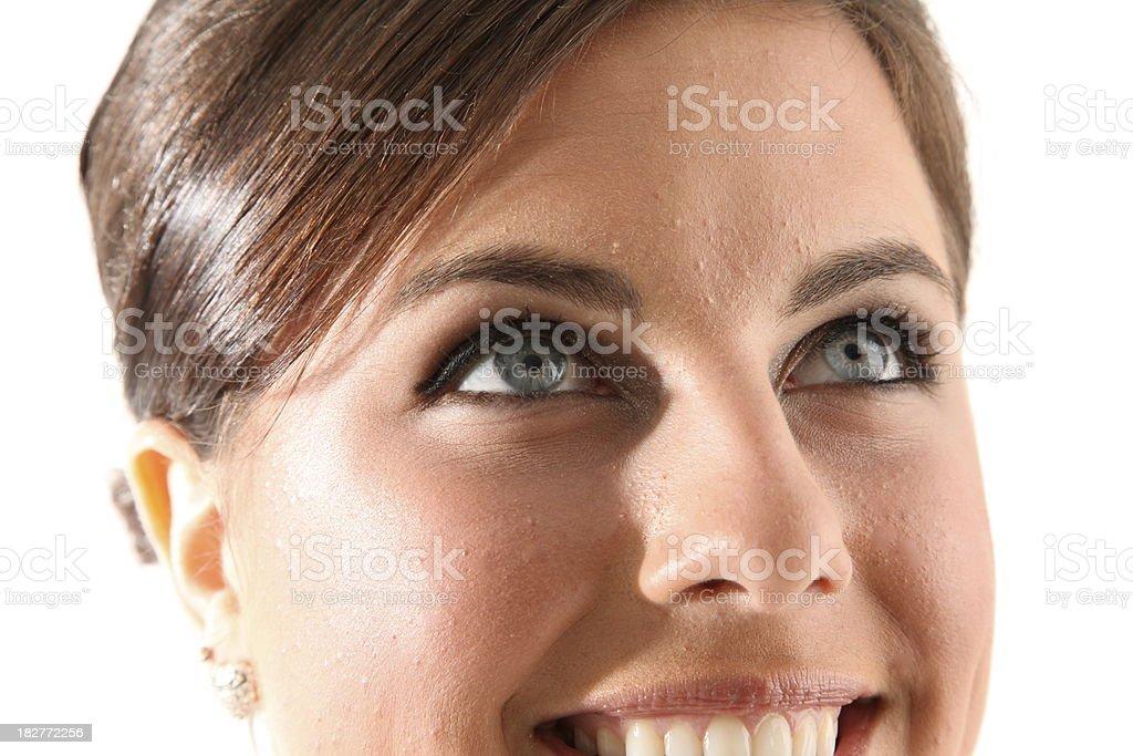 Hermosos ojos azules foto de stock libre de derechos