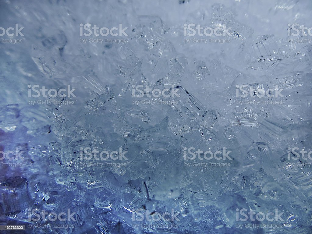Beautiful blue ice crystal structure in Winter time royalty-free stock photo
