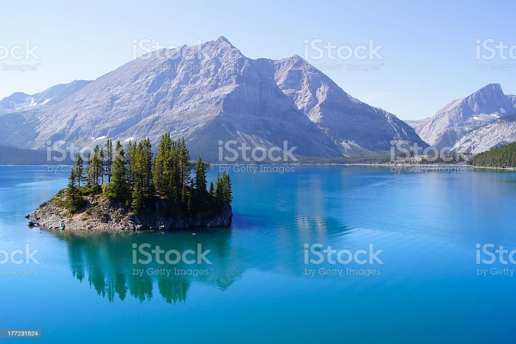 Beautiful blue lake in the Rocky Mountains of Canada royalty-free stock photo