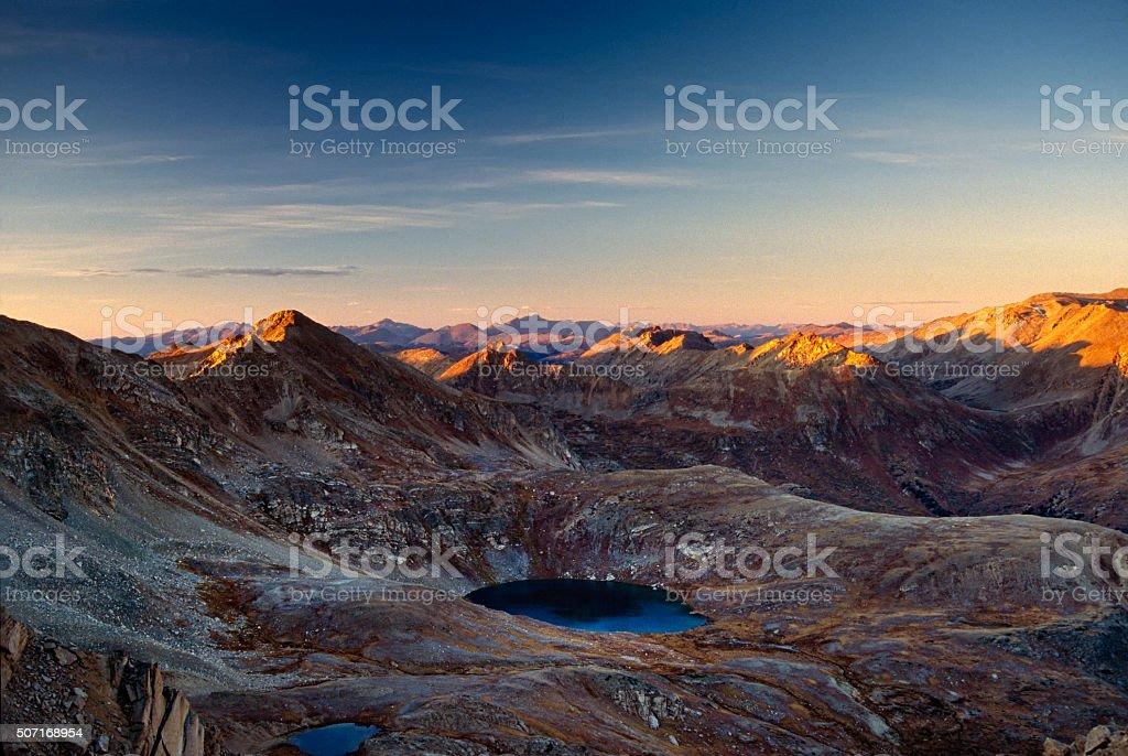 Beautiful Blue Lake Independence Pass Colorado stock photo