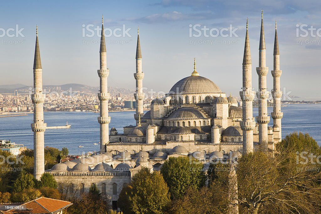 Beautiful Blue Mosque, Istanbul, Turkey stock photo