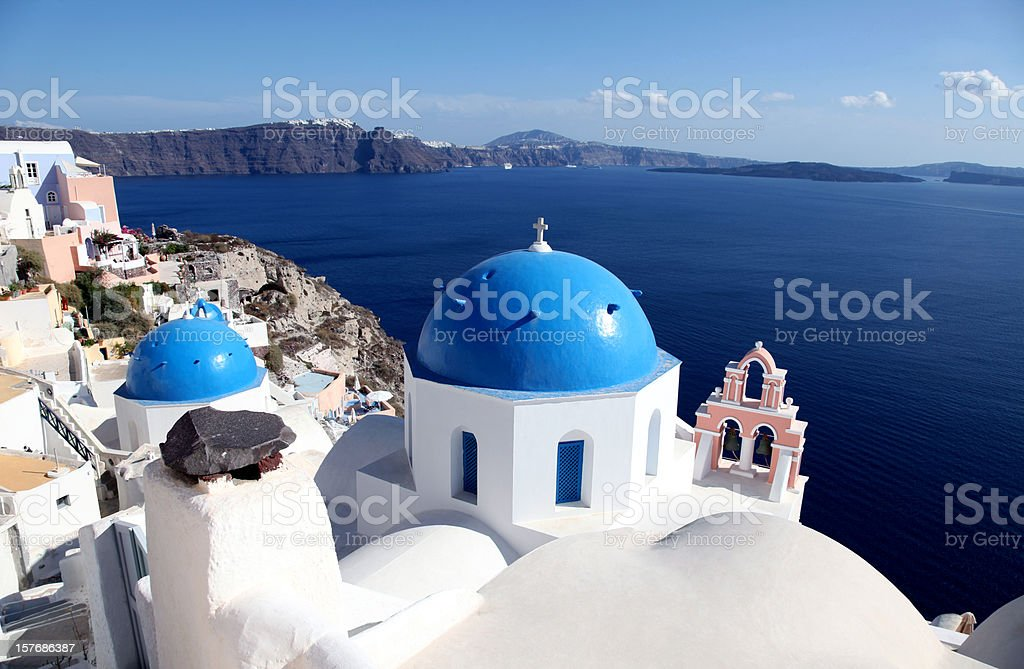 Beautiful Blue Santorini royalty-free stock photo