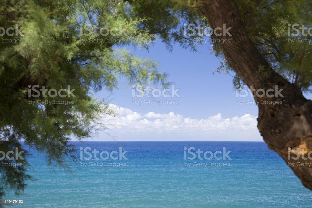 Beautiful blue sea. royalty-free stock photo