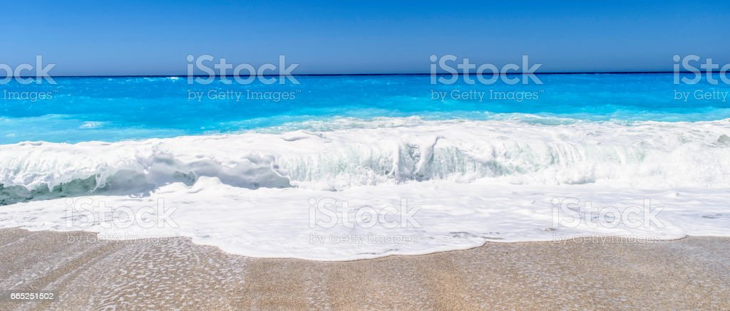 Beautiful Blue Sea Wave stock photo