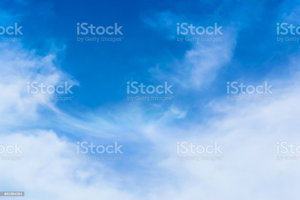 Beautiful Blue Sky Background Template With Some Space for Input Text Message stock photo