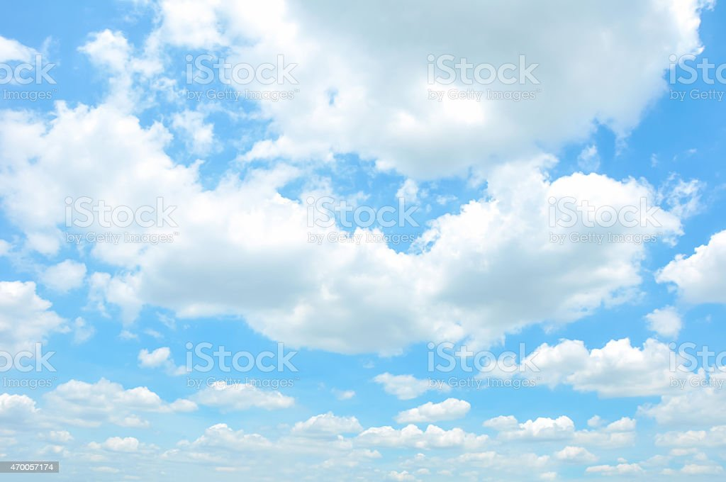 Beautiful blue sky & cloud background stock photo