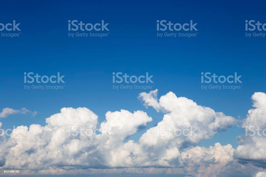 Beautiful blue sky. stock photo