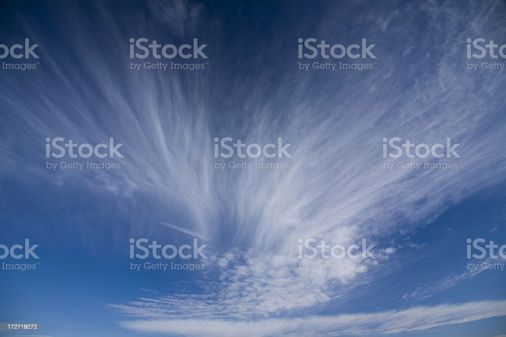 Beautiful blue sky with clouds royalty-free stock photo