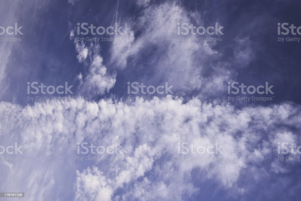 Beautiful blue sky with white clouds royalty-free stock photo