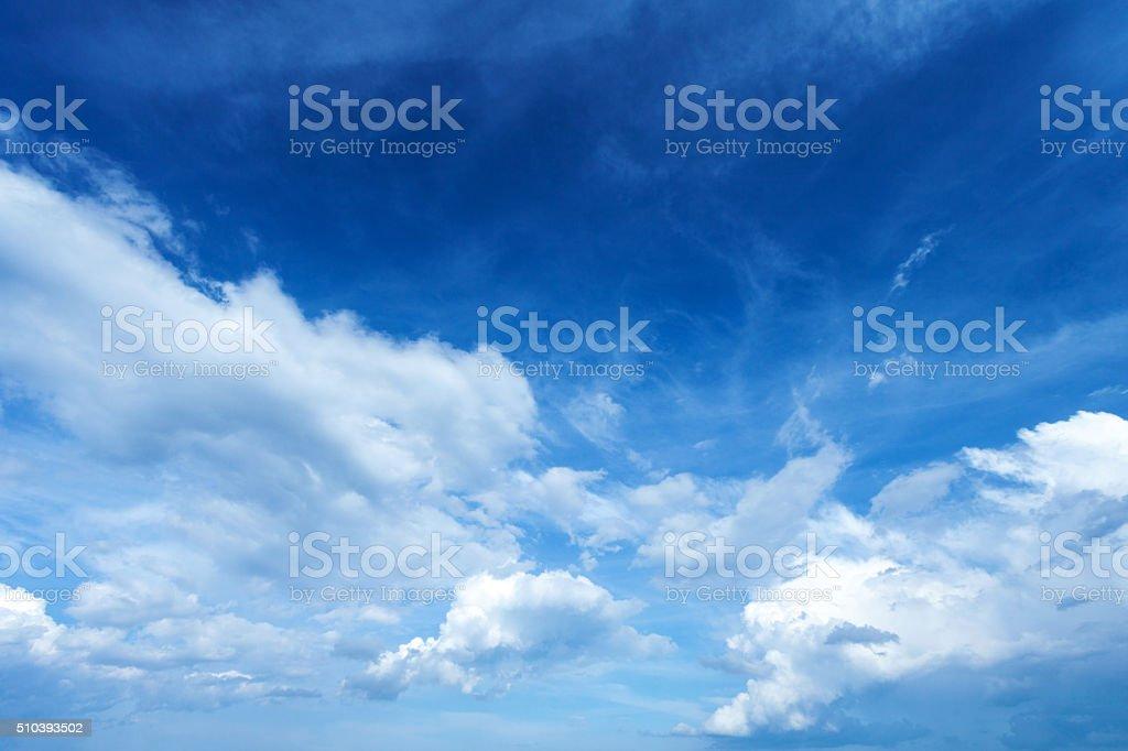 Beautiful blue summer sky stock photo