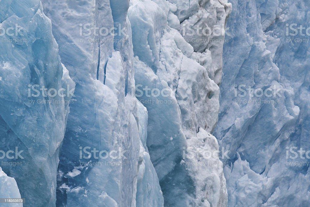 Beautiful blue tinted Dawes Glacier stock photo