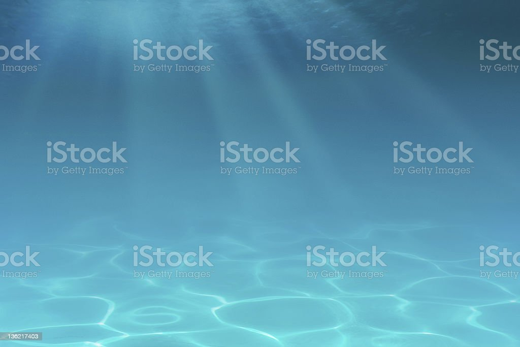 A beautiful blue underwater background royalty-free stock photo