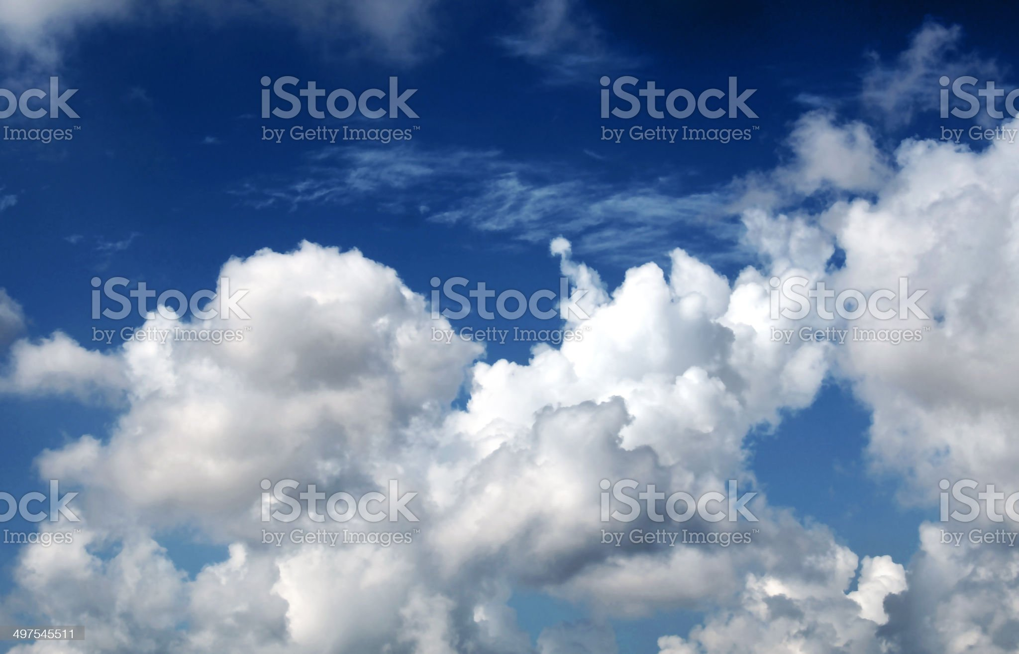 beautiful blue-sky with clouds royalty-free stock photo