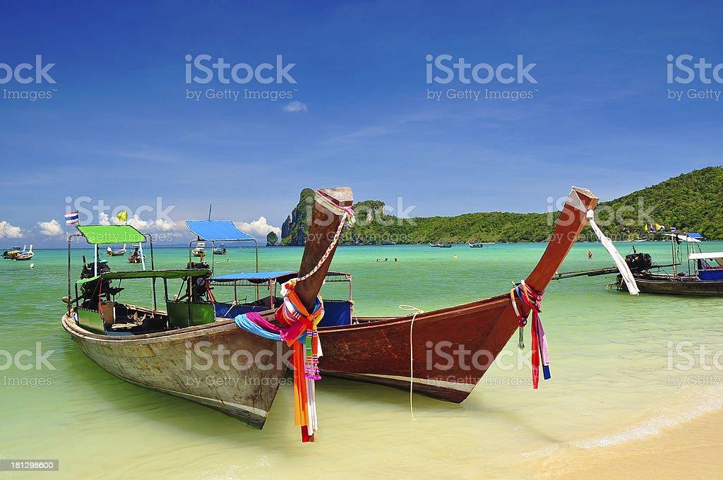 Beautiful boat in beach, Phuket, Thailand royalty-free stock photo