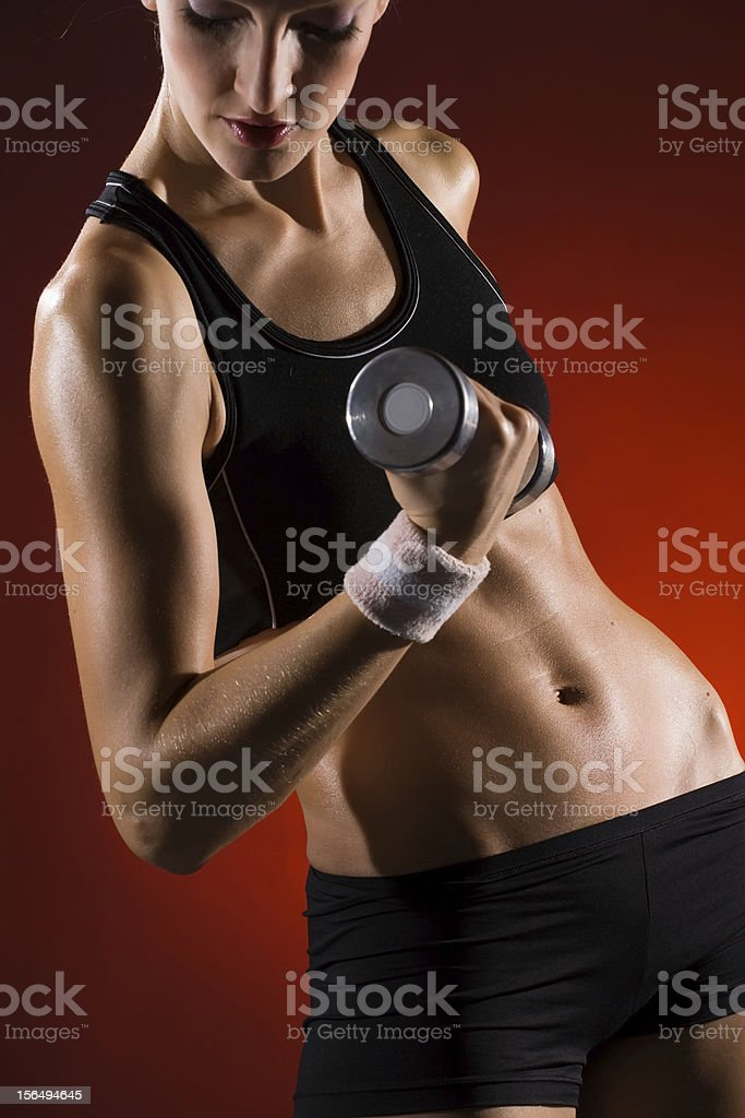 Beautiful Body of muscular woman royalty-free stock photo