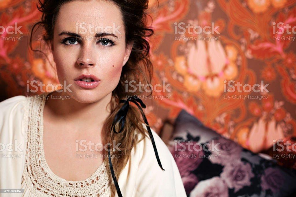 Beautiful Bohemian Woman Portrait royalty-free stock photo