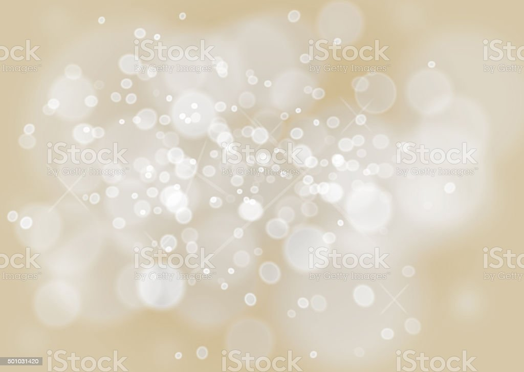 Beautiful bokeh background in a champagne color and bubbles effet stock photo