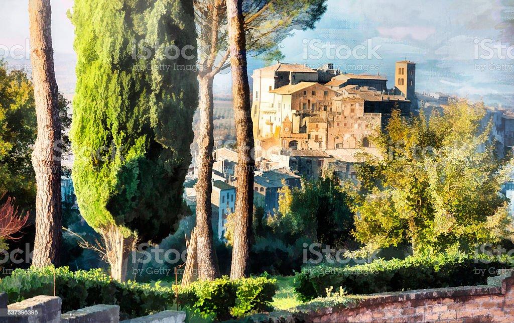 Beautiful Bomarzo,Viterbo Province,Italy stock photo