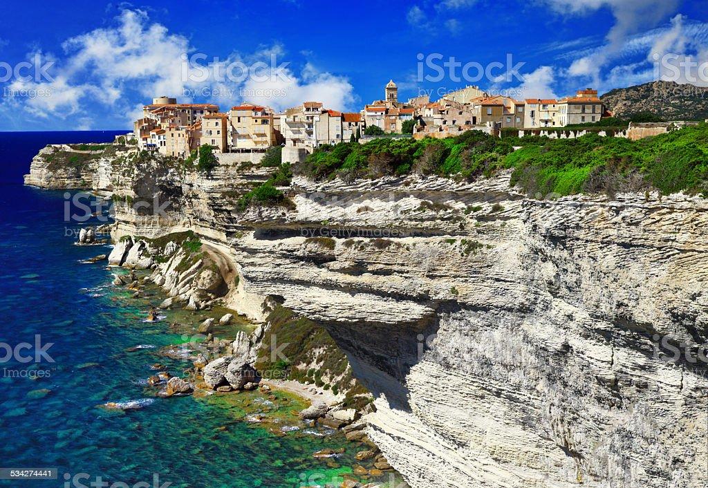 Beautiful Bonifacio, Corsica.France. stock photo
