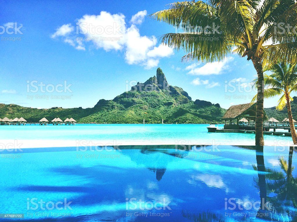 Beautiful Bora Bora Tahiti stock photo