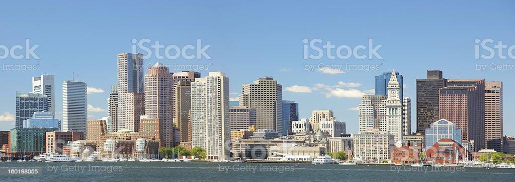 Beautiful Boston City Panorama stock photo