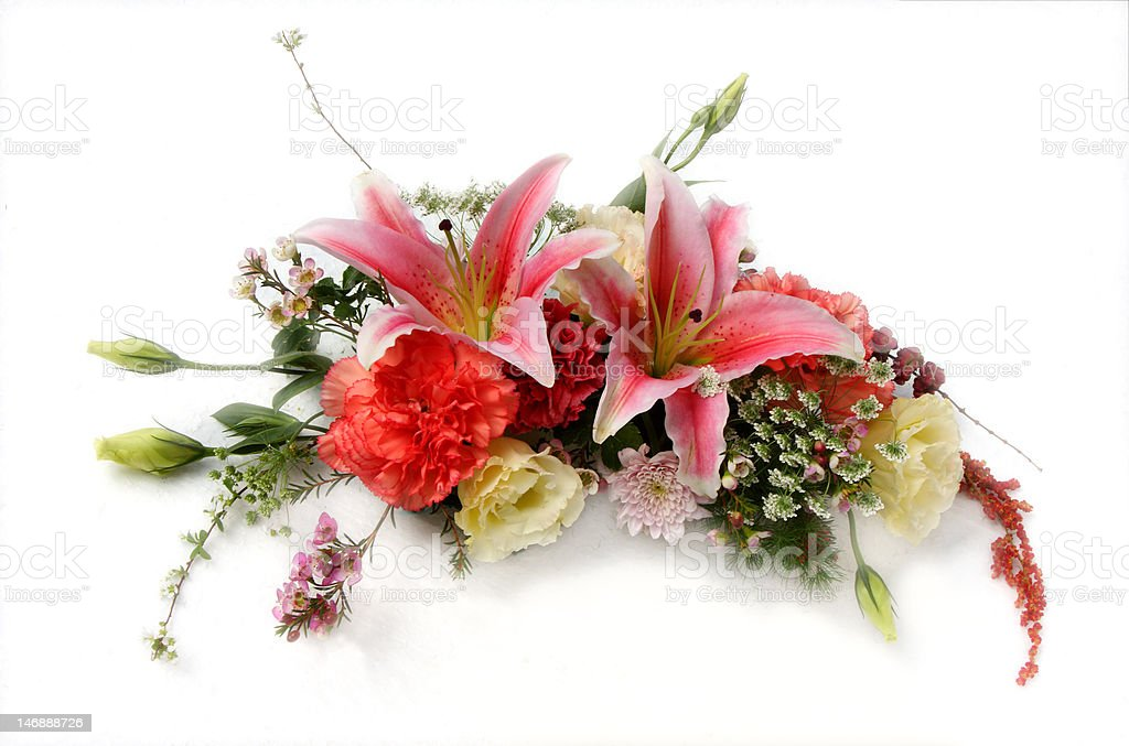 Beautiful bouquet isolated on white royalty-free stock photo