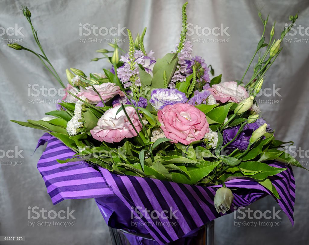 beautiful bouquet of colorful flowers stock photo