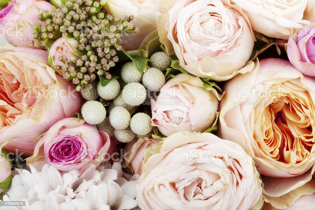 Beautiful bouquet of flowers stock photo