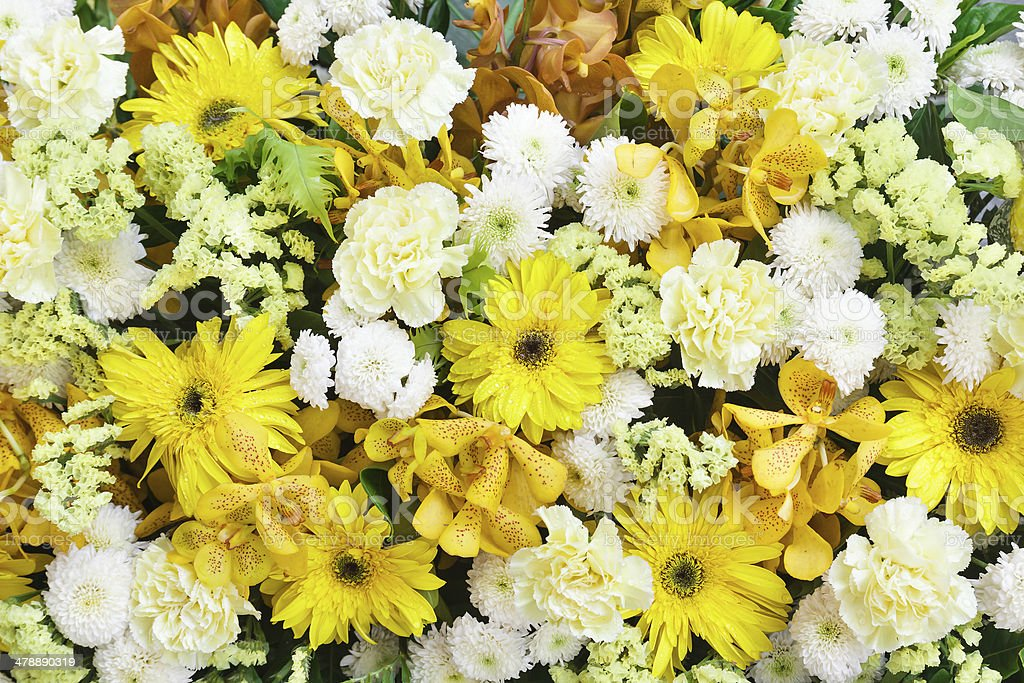 Beautiful Bouquet with flowers stock photo